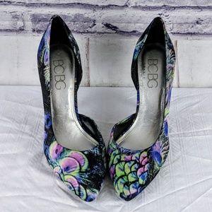 BCBG Paris Peacock Heels